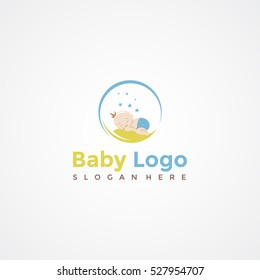 Baby logo template. Vector Illustration Eps.10