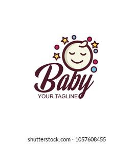 Baby logo vector
