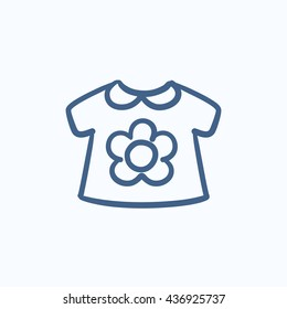 Baby loose jacket vector sketch icon isolated on background. Hand drawn Baby loose jacket icon. Baby loose jacket sketch icon for infographic, website or app.