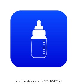 Baby milk bottle icon digital blue for any design isolated on white vector illustration