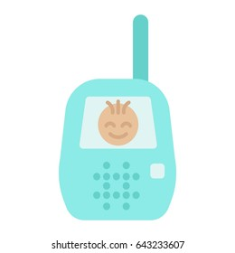 Baby monitor flat icon, mobile and child control, vector graphics, a colorful solid pattern on a white background, eps 10.