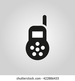 Baby monitor icon. design. Radio symbol. web. graphic. AI. app. logo. object. flat. image. sign. eps. art. picture - stock vector