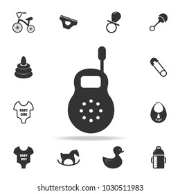 Baby monitor icon. Set of child and baby toys icons. Web Icons Premium quality graphic design. Signs and symbols collection, simple icons for websites, web design on white background