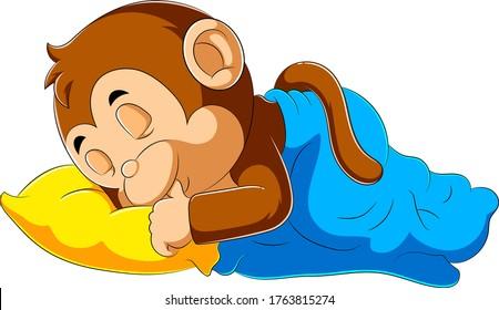 Monkey Sleeping Cartoon High Res Stock Images Shutterstock