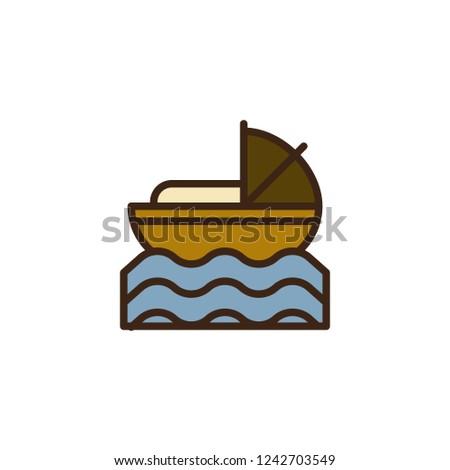 Baby Moses River Filled Outline Icon Vector de stock (libre de ...