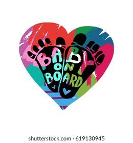 Baby on Board logo / sticker / label / sign