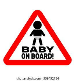 Baby on board red sign