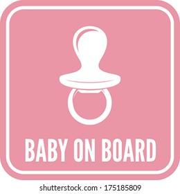 Baby on board sign - baby milk bottle
