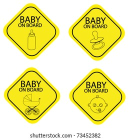 Baby on board warning signals.