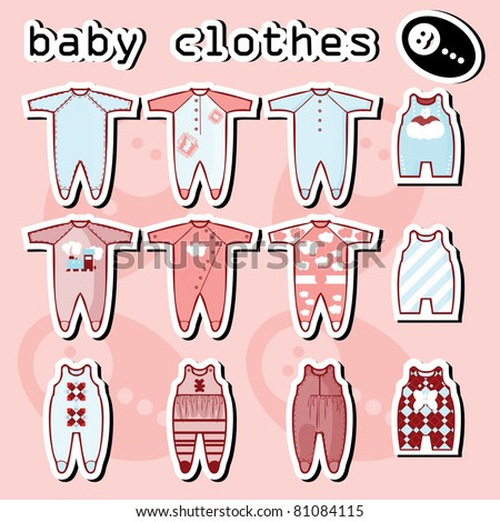Baby Onesie Template In Pink And Blue
