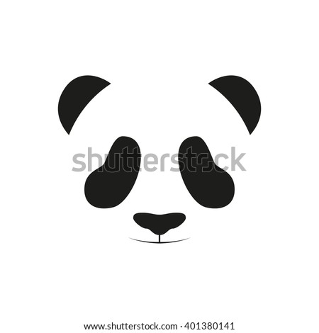Baby Panda Face Logo Template Icon Asian Bear Head