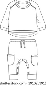 Baby pants t shirt design vector template