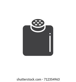Baby powder icon vector, filled flat sign, solid pictogram isolated on white. Symbol, logo illustration