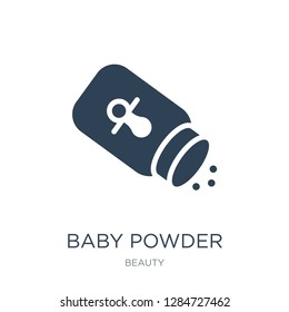 baby powder icon vector on white background, baby powder trendy filled icons from Beauty collection, baby powder vector illustration