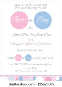 Baby Reveal Postcard Invitation