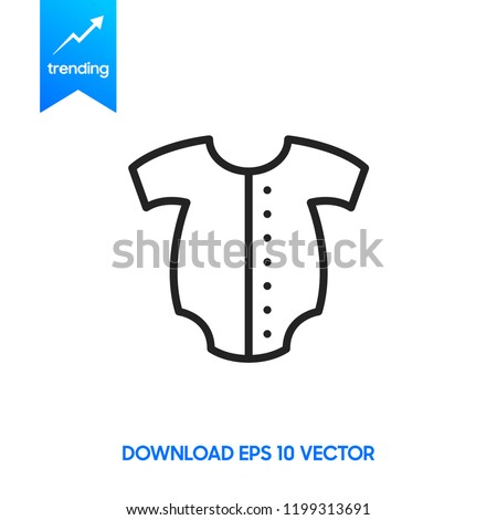 b78545ba2ec Baby romper linear icon. Thin line illustration. Newborn baby overalls.  Contour symbol. Vector isolated outline drawing. Editable stroke - Vector