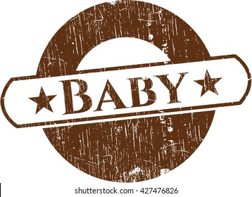 Baby rubber grunge texture seal
