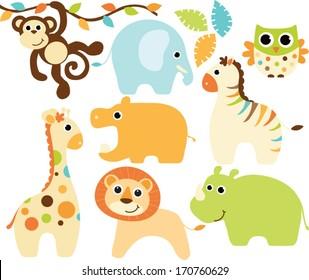Baby Safari Animals - Boy