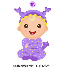 Baby Scorpio Cute Zodiac in Pj