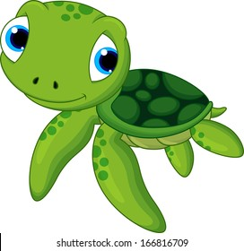 baby sea turtle cartoon