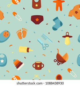Baby seamless pattern background design