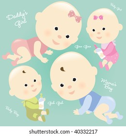 Baby Set 2 Isolated