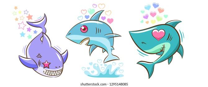 baby shark bundle clipart