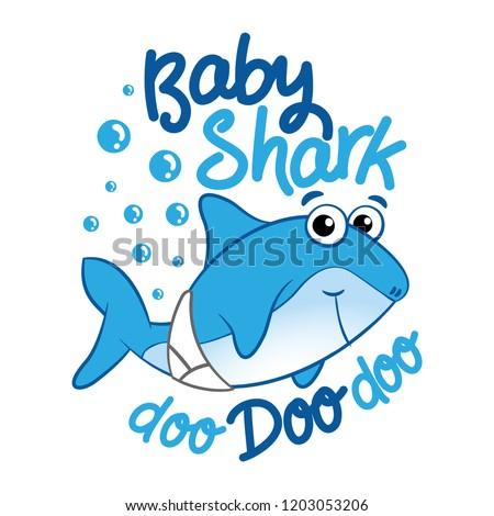 b7548e1a6 Baby Shark T Shirts Hoodie Tank Gifts Stock Vector (Royalty Free ...