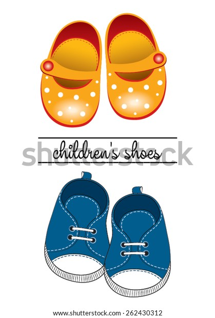 Baby Shoes Vector Illustration Stock Vector Royalty Free 262430312