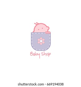 Baby Shop Logo Icon Template Design Vector Illustration