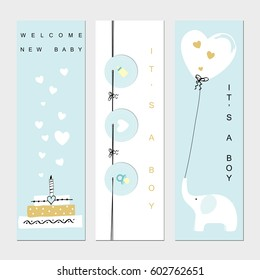 Baby shower banners for the boy