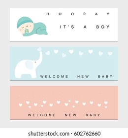 Baby shower banners for the baby boy and girl