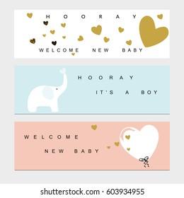 Welcome Baby Banner Images Stock Photos Vectors Shutterstock