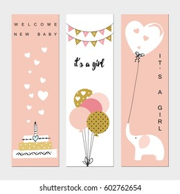 Baby shower banners for the baby girl