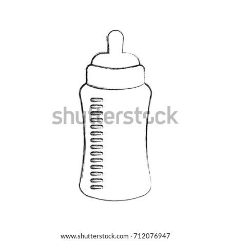 Baby Shower Bottle Milk Little Decorative Stock Vector Royalty Free Magnificent Decorative Plastic Bottles For Shower