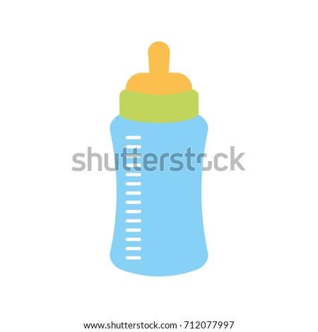 Baby Shower Bottle Milk Little Decorative Stock Vector Royalty Free New Decorative Plastic Bottles For Shower