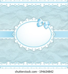 Baby shower for boy blue pastel tones vector eps10