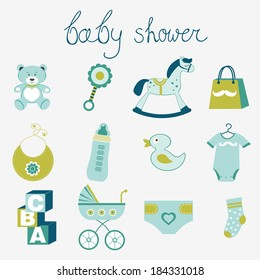 Baby shower  for boy collection