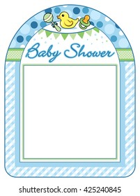 Baby shower boy frame print sheet