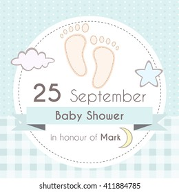 baby shower girl invitation card template stock vector royalty free