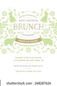 Baby Shower Brunch Invitation Design