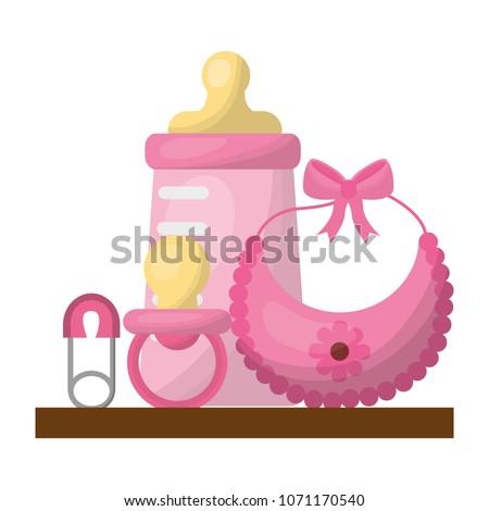 d7892a2ef Baby Shower Card Vector de stock (libre de regalías)1071170540 ...