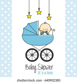 baby shower card. Baby boy
