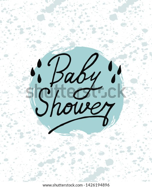 Baby Shower Card Design Cute Fun Stock Vector Royalty Free