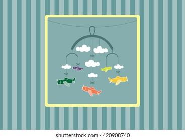 baby shower card designs,vector illustration