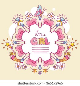 Baby shower card (It's a Girl)