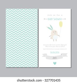 Baby shower cute  invitation for boys