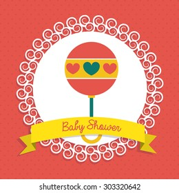 Baby shower digital design, vector illustration eps 10