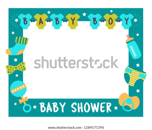 graphic about Free Printable Baby Shower Photo Booth Props referred to as Kid Shower Body Boy Image Booth Inventory Vector (Royalty Free of charge