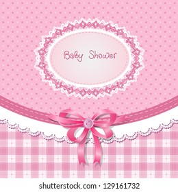 Baby shower for girl, pink pastel tones